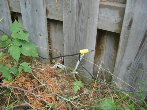 Repair hidden fence wiring by joining the pieces together with a wire connector